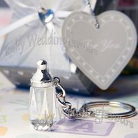 baby shower keychain favors - DHL Crystal Baby Bottle Keychain Baby Shower Great Party Favors Ideas Party Supplies Party Decoration