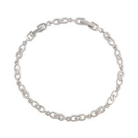 Wholesale Imitation Rhodium Plated Tennis Chain Quality White Zirconia Wedding Bracelet for Bride Xuping Brand Copper Jewelry Hand Chain