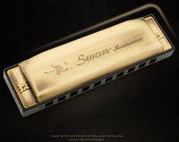 Wholesale Swan hole tone Blues Harmonica brass cover A B D E F brass product harmonica diatonic
