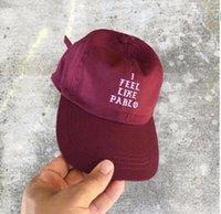 authentic snapback hats - 2017 new I Feel Like Pablo Red Hat Authentic god bear Dad Baseball Cap Kanye West Yeezus TLOP drake bone snapback