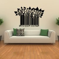 barcode wall sticker - Tree Branch Barcode Wall Decal Vinyl Art Home Decor DIY Removable Self Adhesive Wall Sticker For Background Decoration