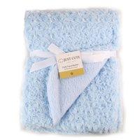 Winter baby bedding roses - Rose Velvet Baby Blanket High Quality Baby Swaddle Wrap Swaddling Winter Warm Brand Bedding Soft Infant Crochet Blanket