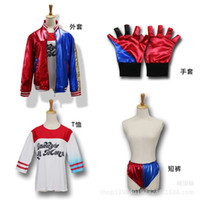 Wholesale Cheap Cosplay Items - Hot !!! 2017 Movie Suicide Squad Harley Quinn Jacket Suits Cosplay Costumes Daddy Anime Costume Clothing Cheap Newest Items !!