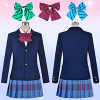 Wholesale Anime costumes school uniform set Love Live cosplay campus clothing set Kawaii girl cos uniform skirt set