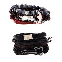 Wholesale Brand New Men And Women Fashion Jewelry Leather Braided Multi layer Wrap Bracelet Price High Quality