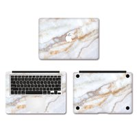 Wholesale White Crystal Marble Grain Vinyl Full Body Cover Laptop Decal Skins For Apple Macbook inch Protective Stickers