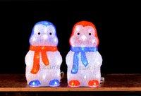 acrylic led penguin - 3D Acrylic led christmas lights penguin led christmas decoration