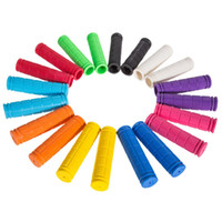 Wholesale 1 Pair Soft Rubber Outdoor Sports Cork Bike Bicycle BMX MTB Cycling Mountain Bicycle Bike Handle Bar Handlebar Tape Colors