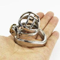 adult fetish - Latest Design Super Small Male Chastity Device Stainless Steel CM Long Adult Cock Cage SM Fetish BDSM Sex Toys