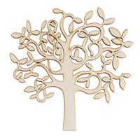 achat en gros de décoration d'arbre en bois-Nouveau 10Pcs Bois Forme MDF Arbre Décor de parenté Décorations Artisanat en bois en bois Décor Arbre Bois Décoration commander 18Personne $ piste