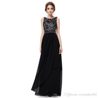 Wholesale Sexy Womens Chiffon Flouncing Backless Floor Length Party Evening Dress Plus Size Lace Sundress S XL ok