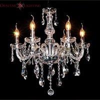 Wholesale 6 Arms Home Crystal Chandelier Modern Lustres de Cristal Living Room Indoor Lamp Decoration
