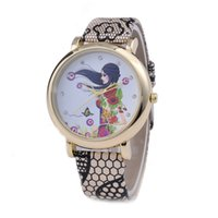 Wholesale modern girls flower love heart butterfly watches fashion women leather diamond Snake skin leisure dress quartz watches