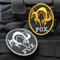 metal badges military - High quality Black Metal Gear Solid MGS FOX HOUND Special Force Group Ghost D Embroidered patches military armband badge VP