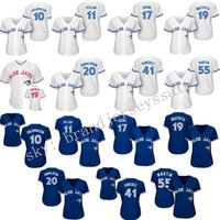 baseball patch - Womens Toronto Blue Jays th Anniversary Patch Baseball Jerseys Edwin Encarnacion Kevin Pillar Alternate Throwback Stitched Logo
