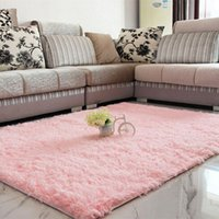 acrylic floor mats - Fluffy Rug Anti Slip Shaggy Area Rug Living Dining Room Bedroom Carpet Floor Mat