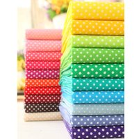 Wholesale 20 color Multicolor Polka Dot cotton fabric tilda fabrics patchwork cotton tissue home textile woven telas tecido H210506