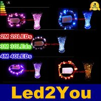 Wholesale CR2032 Battery Operated Led String Lights Micro Led Fairy String Light Copper Wire Led Holiday Light Christmas Decorations Lights DC V