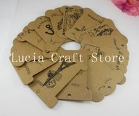 Wholesale SALE cm Random Kraft Paper Coiling Plate Sewing Label DIY Craft Materials Clothing Apparel Tags H48
