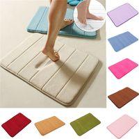 bath popular mat - Hot Style Popular Fashion Desgin Memory Foam Soft Bath Mat Bathroom cm Absorbent Non Slipresistant Pad DIY universal Place