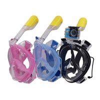 Wholesale Snorkeling Full Face Diving Mask With Earplug Goggle Water Sports For GoPro Hero Sjcam Action Camera Xiaoyi