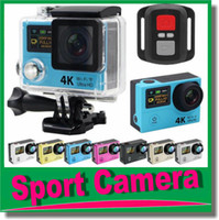 Wholesale Ultra HD K H3R WIFI Action Cameras G Remote Controller Mini Sport Camera Video Camcorders P Lens quot LCD Helmet Cam JBD DV3