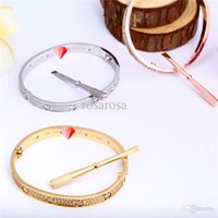 Wholesale High Quality Fashion L Stainless Steel Screw Bangle Bracelet with Screwdriver For Men and Women Filled with masonry