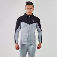 Wholesale Gymshark Hoodies new brand hoodies men sweatshirt belt patchwork full sleeve assassins creed man hoodies tracksuits