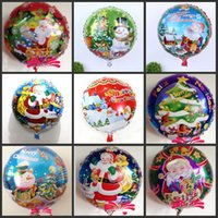 aluminum xmas trees - Cheap Sale Christmas Tree Santa Claus Helium Aluminum Foil Balloons Inch Balloon For Kids Toys xmas Wedding Birthday Party Decoration