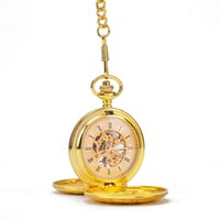 antique pattern glass - Gold Vine Classical Patterns Border Sides Open Cases Roman Numbers Mechanical Pocket Watch
