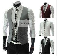 Wholesale Men Vests Outerwear Mens Vest Man Casual Suits Slim Fit Stylish Short Coats Suit Blazer Jackets Coats Korean Wedding Mens V Neck Vest