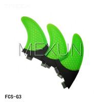 Wholesale New Design hotsales homb fiber glass FCS G3 fins set S size for surfing fins smile