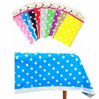 1.7 - Colors Polk Dot Plastic PVC Tablecloth Tablecover for Wedding Baby Shower Birthday Party Supply Decoration
