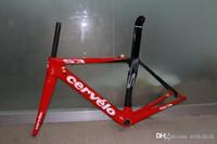 best seatpost clamp - Gift offer New Cervelo S3 Red full carbon bike frame Fork Seatpost Clamp Headset Best Selling Road Bike Frameset A03
