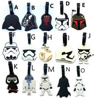 Anime & Comics animal board games - star wars Awakens Kylo Ren Darth Vader C3PO Yoda Darth Vader white soldiers luggage tag boarding card identification card package Charm