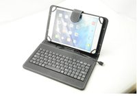 android zte case - Universal For inch Android Tablet PC PU Leather Case Cover Micro USB Wired Keyboard For ZTE SAMSUNG HTC