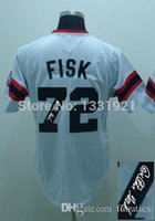 baseball team patches - 2015 New Carlton Fisk Jersey Embroidery team logo name number patch size Baseball Fisk white jersey