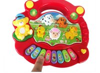 Wholesale Learning Education Toy Musical Instrument New Useful Baby Kid Musical Educational Animal Farm Piano Music Toy Developmental