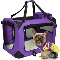 Wholesale Oxford Pet Dog Carrier Portable House Soft Sided Cat Travel Tote Bag Purple Set