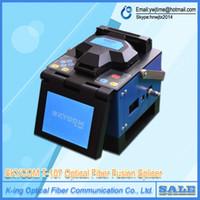 Wholesale SKYCOM T H Fiber Optic Fusionadora for CATV telecom FTTH Splicing Fiber machine skycom T107H Fusion Splicer