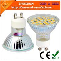 Wholesale 2016 NEW GU10 SMD2835 SMD5050 COB LED Spotlight GLASS BODY Lamp Bulb Light Lamp VS W halogen V V COB bulbs