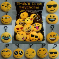 big keychains - New Arrival Emoji Plush Pendant Keychains Kids Toys Doll PPCotton Toy Mobile Bag cm For Christmas Gifts