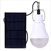 Wholesale 1PC Outdoor w Solar Powered Portable Led Bulb Solar Energy Lamp led Lighting Solar Panel Camp Nightfair Travel Used hours