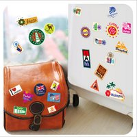adhesive notebook - Fashionable Luggage Case Sticker Notebook Sticker Removable Multipurpose Wall Decals Decoration