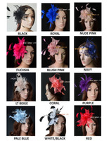 Wholesale 12 colours Simple and elegant Sinamay Fascinators for kentucky derby melbourne cup wedding party races church