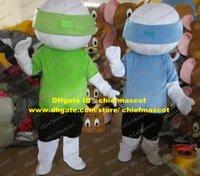 baseball softball pants - Active White Baseball Softball Soft ball Baseball Mascot Costume Cartoon Character Mascotte Black Pants Blue Green Shirt ZZ225