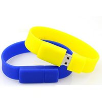 Wholesale Bracelet Silicone USB Flash Drive Disks Memory USB Real GB GB GB GB USB Flash Drives