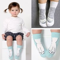 animal suppliers - China supplier new styles animal paw claw boys girls booties year cotton socks for kids