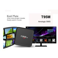 Wholesale 2016 High Quality Android Quad Core T95M K Smart TV Box Amlogic S905 GB GB GB WiFi KODI LED Display