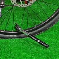 ball inflator pump - Mini Portable Bike Pump Air Pump Double Action Hand Pump Bike Tire Ball Inflator Presta Schrader Compatible Y2417